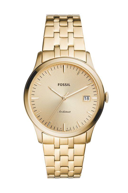złoty Fossil - Zegarek FS5745 Męski