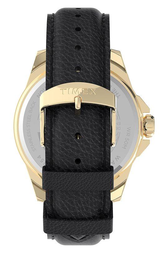 Timex - Hodinky TW2U82100  Kov, Přírodní kůže, Minerální sklo