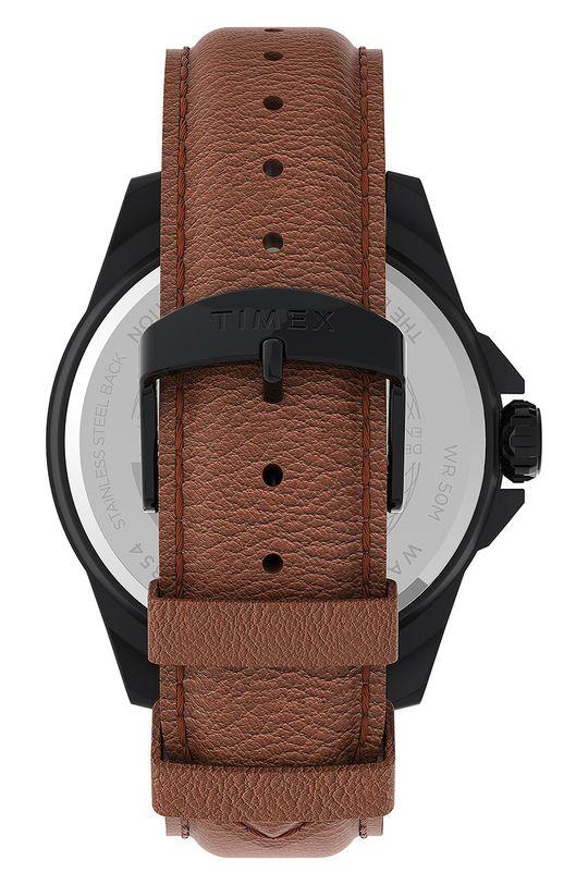 Timex - Hodinky TW2U82200  Kov, Přírodní kůže, Minerální sklo