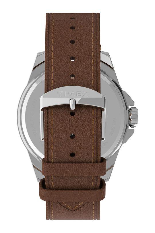 Timex - Hodinky TW2U15000  Kov, Přírodní kůže, Minerální sklo