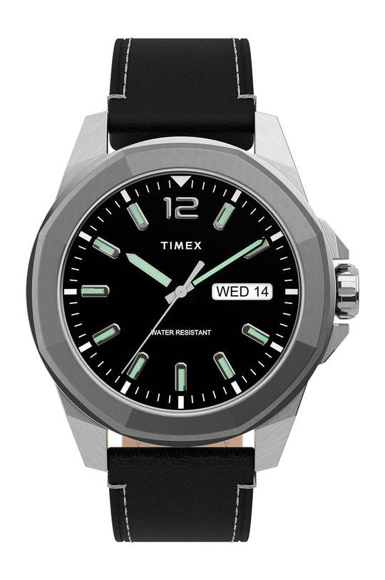 srebrny Timex - Zegarek TW2U14900 Męski