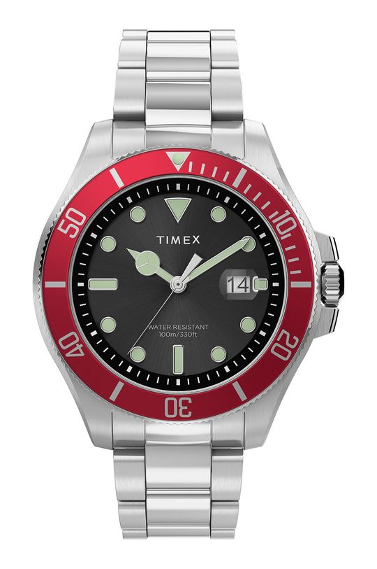 srebrny Timex - Zegarek TW2U41700 Męski