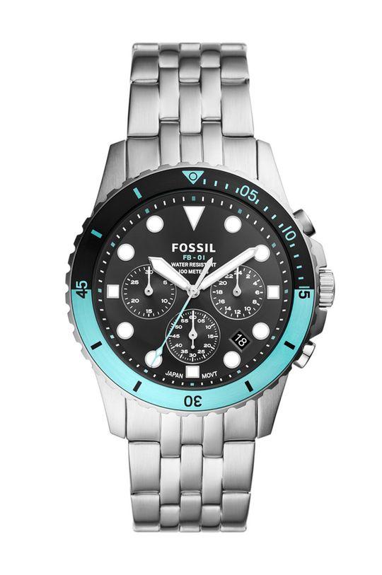 stříbrná Fossil - Hodinky FS5827 Pánský
