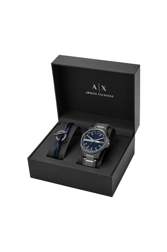grafitowy Armani Exchange - Zegarek i bransoletka AX7127