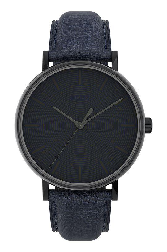 czarny Timex - Zegarek TW2U89100 Męski