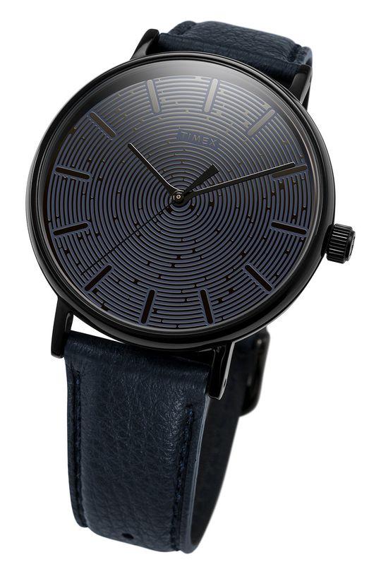 Timex - Zegarek TW2U89100 Metal, Skóra naturalna, Szkło mineralne