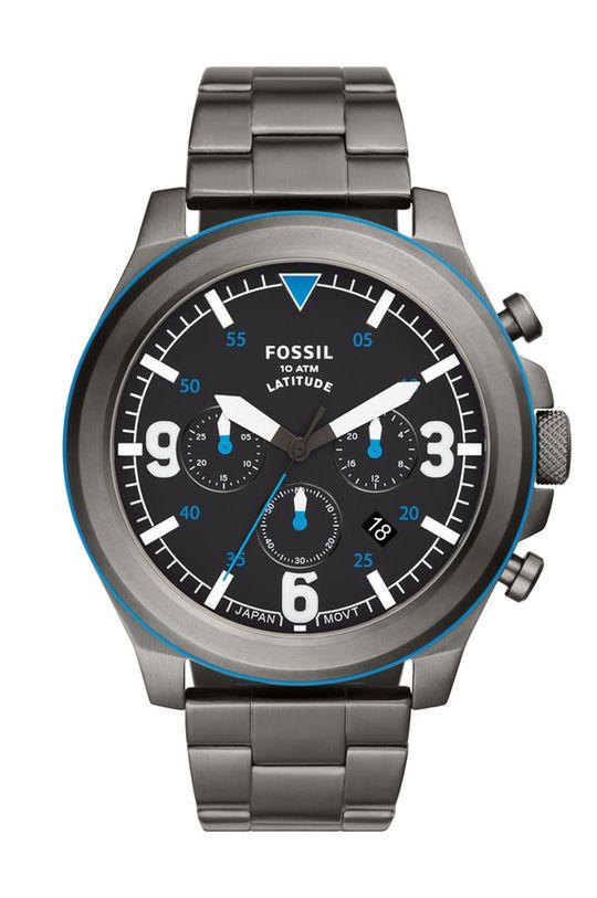 grafitowy Fossil - Zegarek FS5753 Męski