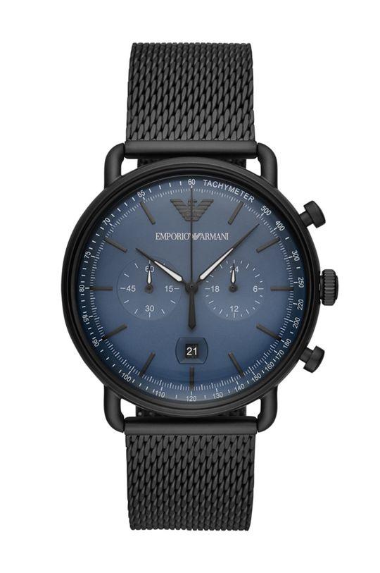 czarny Emporio Armani - Zegarek AR11201 Męski