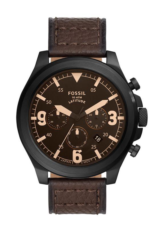 ciemny brązowy Fossil - Zegarek FS5751 Męski
