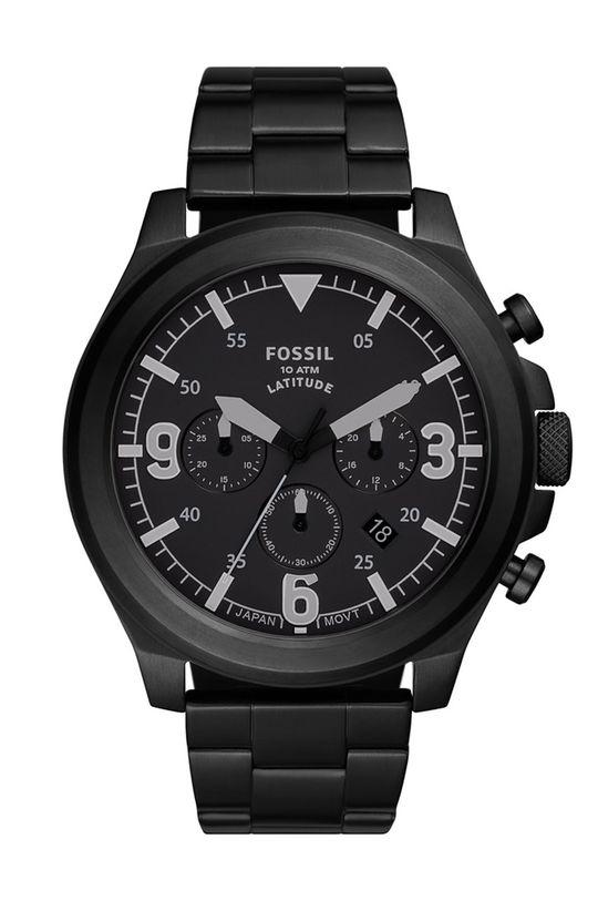 czarny Fossil - Zegarek FS5754 Męski