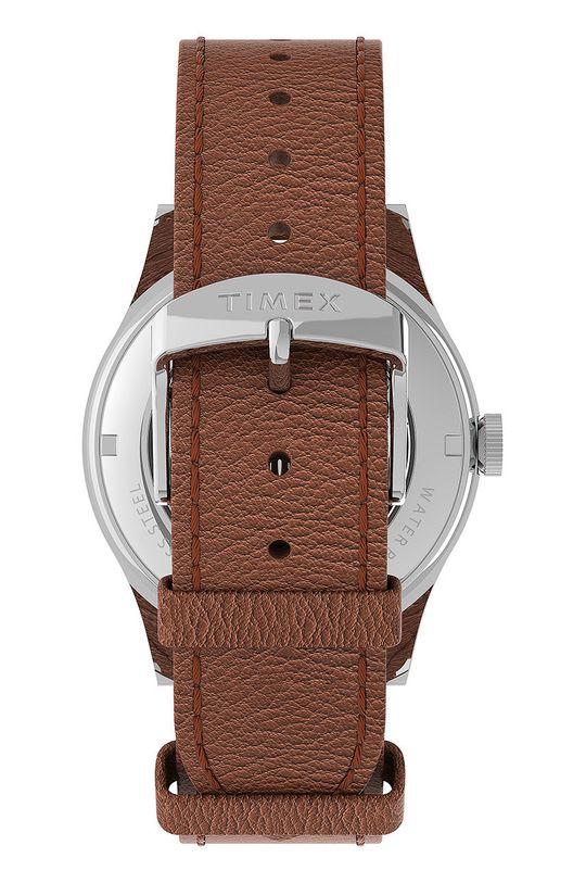 Timex - Zegarek TW2U91000 Skóra naturalna, Stal, Szkło mineralne