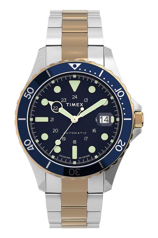 srebrny Timex - Zegarek TW2U83500 Męski