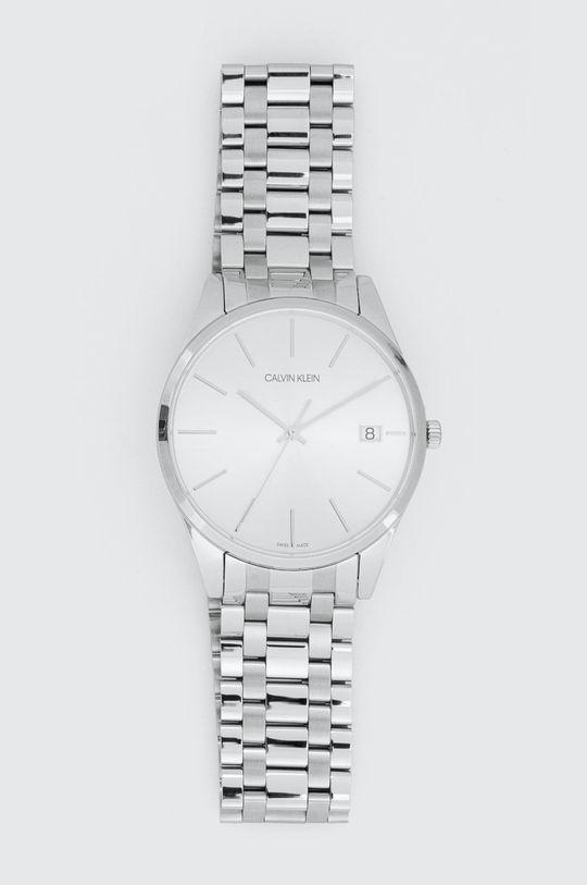 srebrny Calvin Klein - Zegarek K4N21146 Męski