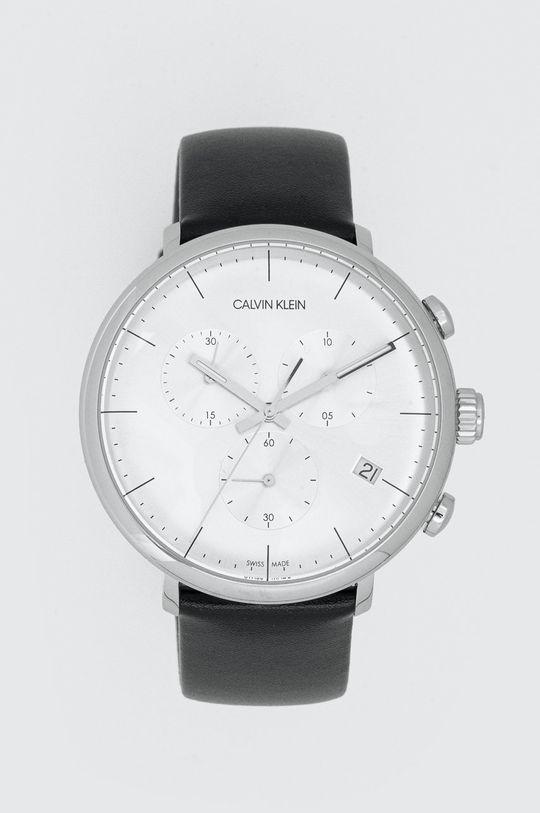 czarny Calvin Klein - Zegarek K8M271C6 Męski