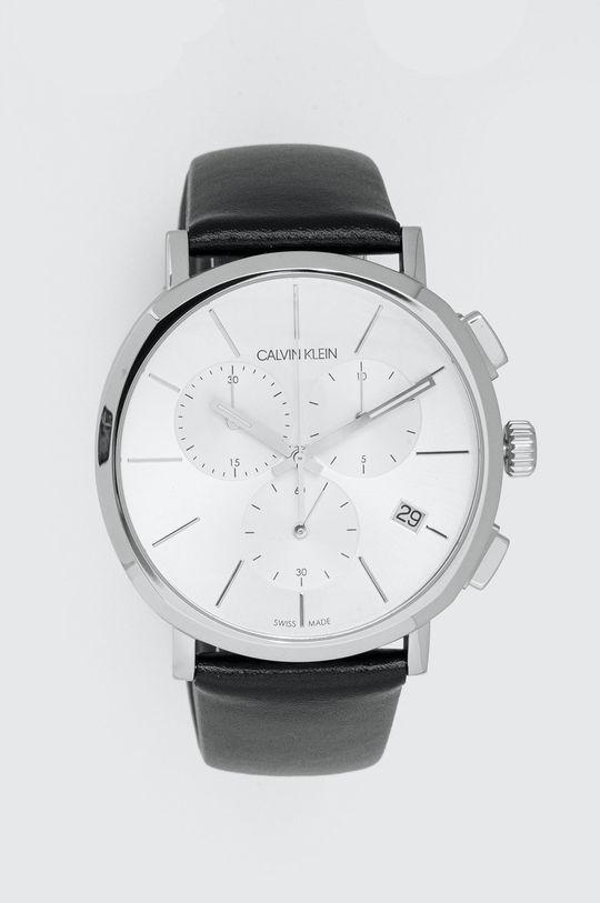 czarny Calvin Klein - Zegarek K8Q371C6 Męski