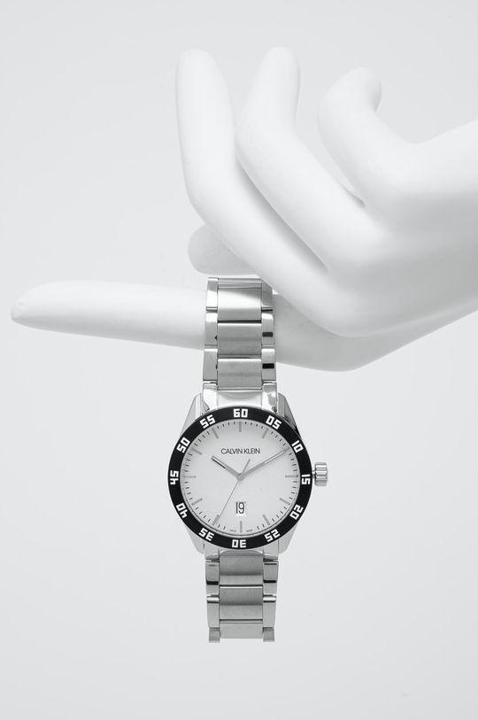 srebrny Calvin Klein - Zegarek K9R31C46 Męski