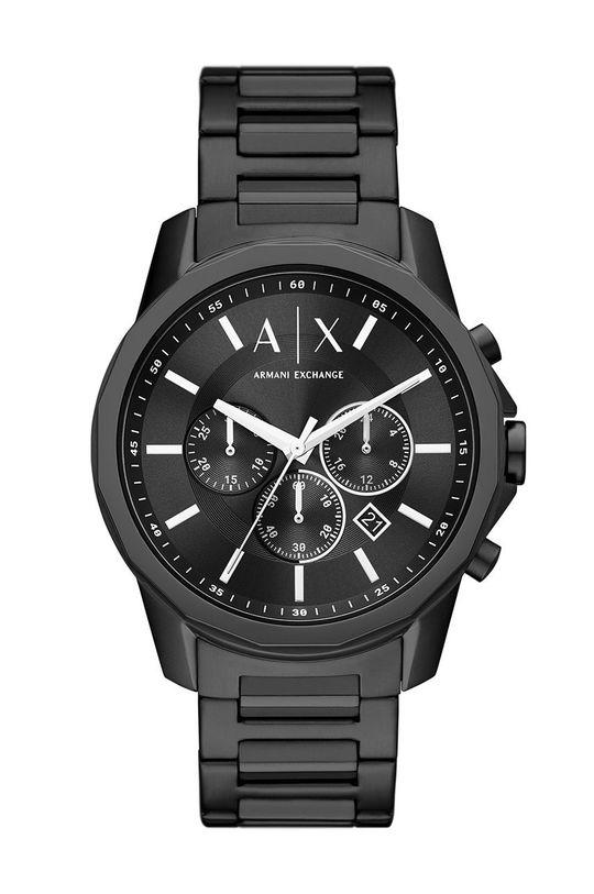 czarny Armani Exchange - Zegarek AX1722 Męski