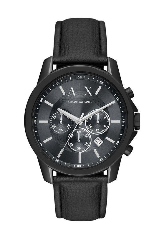 czarny Armani Exchange - Zegarek AX1724 Męski