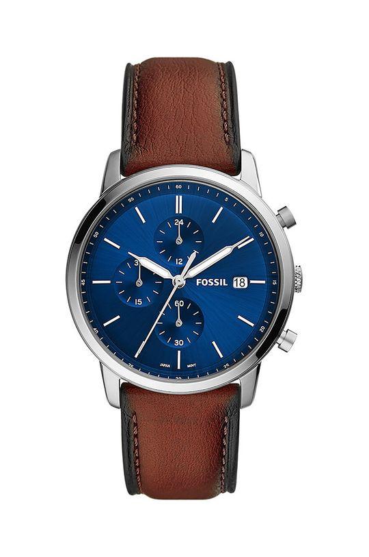 brązowy FOSSIL - Zegarek FS5850 Męski