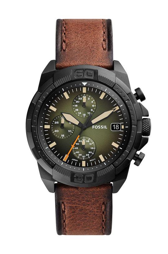 brązowy Fossil - Zegarek FS5856 Męski