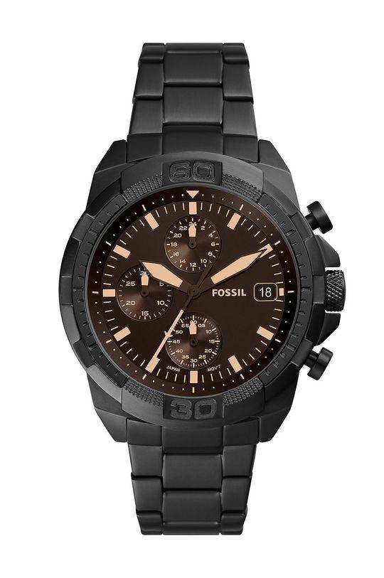 czarny Fossil - Zegarek FS5851 Męski