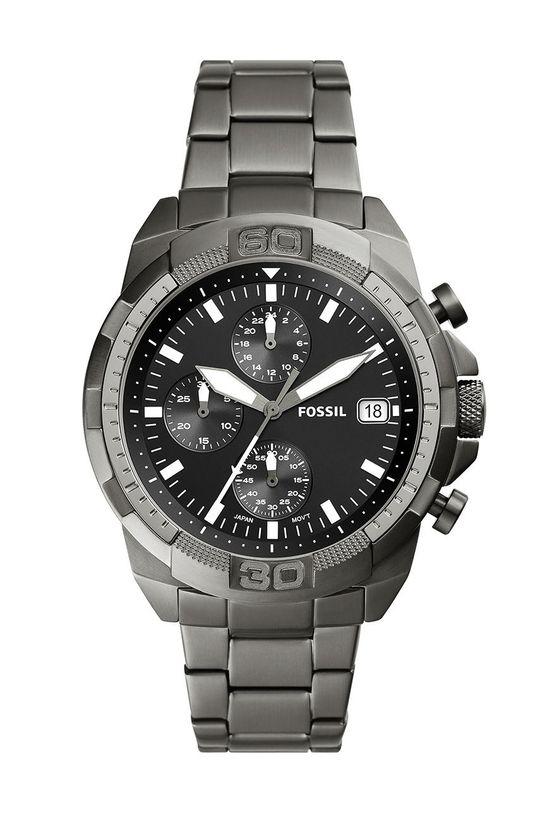 czarny Fossil - Zegarek FS5852 Męski