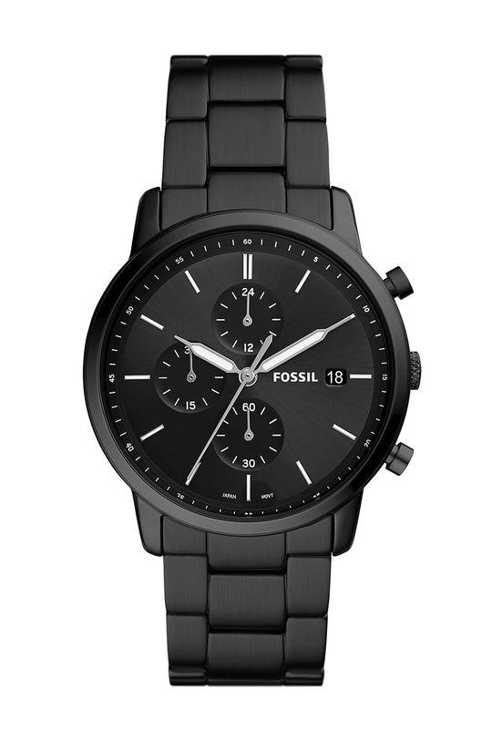 czarny FOSSIL - Zegarek FS5848 Męski