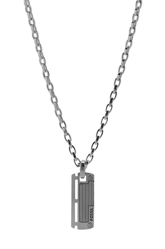 srebrny Fossil - Naszyjnik Męski