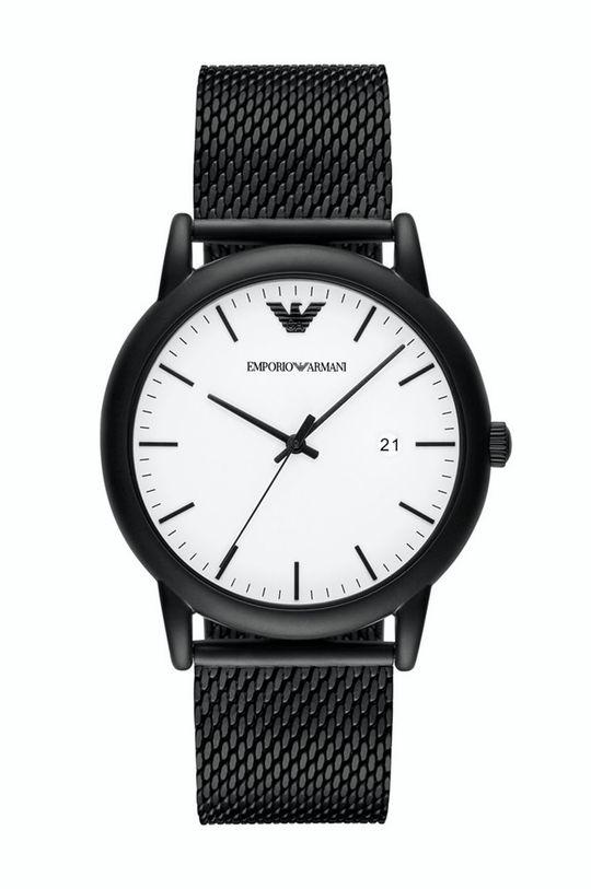 czarny Emporio Armani - Zegarek AR11046 Męski