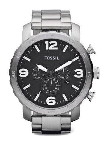 srebrny FOSSIL - Zegarek JR1353 Męski