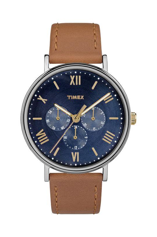 brązowy Timex - Zegarek TW2R29100 Unisex