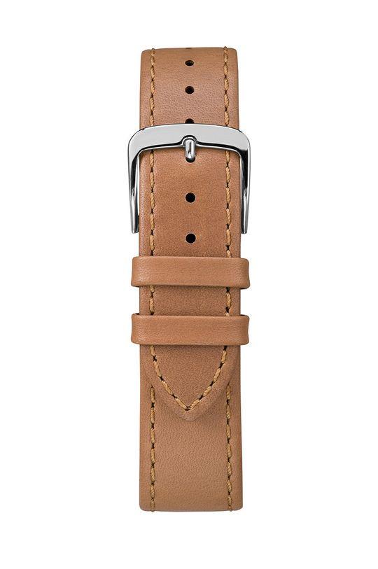 Timex - Zegarek TW2R29100 Mosiądz, Skóra naturalna, Szkło mineralne