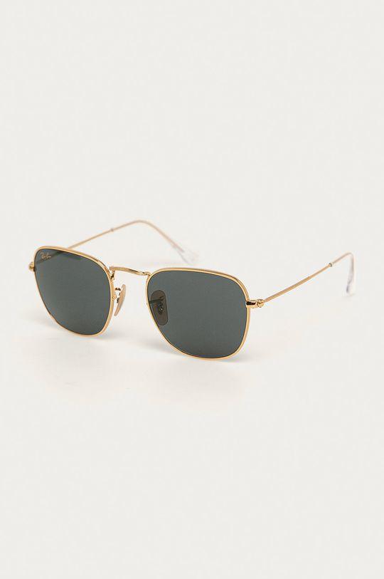 złoty Ray-Ban - Okulary przeciwsłoneczne Unisex