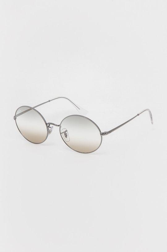 grafitowy Ray-Ban - Okulary przeciwsłoneczne Oval 1970 Unisex