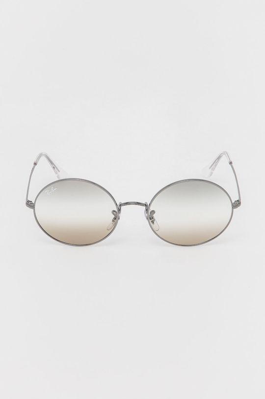 Ray-Ban - Okulary przeciwsłoneczne Oval 1970 grafitowy