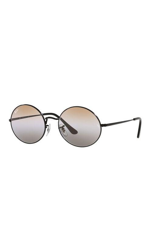 czarny Ray-Ban - Okulary przeciwsłoneczne Oval 1970 Unisex