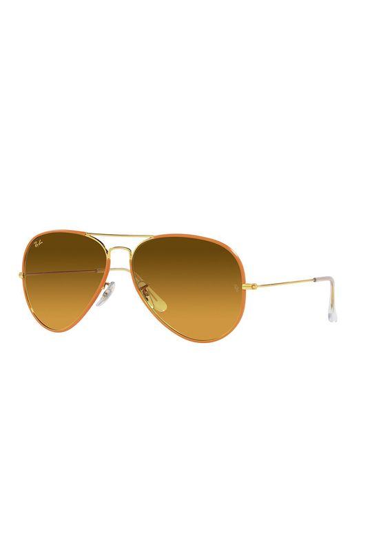 żółty Ray-Ban - Okulary przeciwsłoneczne 0RB3025JM Unisex