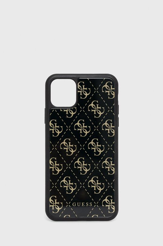 czarny Guess - Etui na telefon iPhone 11 Pro Max Unisex