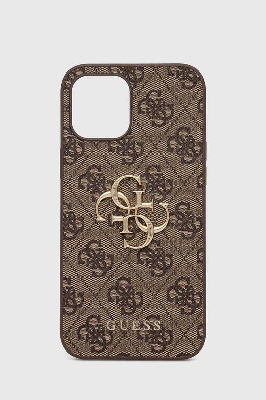 brązowy Guess - Etui na telefon iPhone 12 Pro Max Unisex