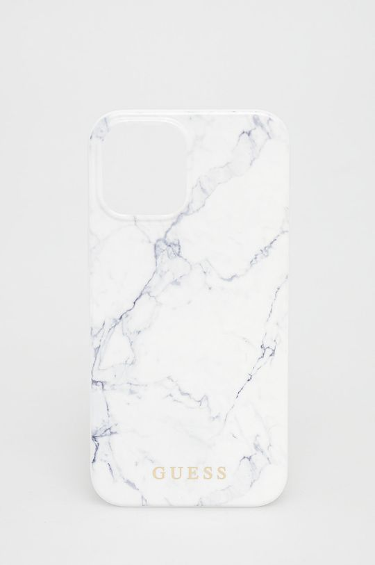 biały Guess - Etui na telefon iPhone 12 Pro Max Unisex