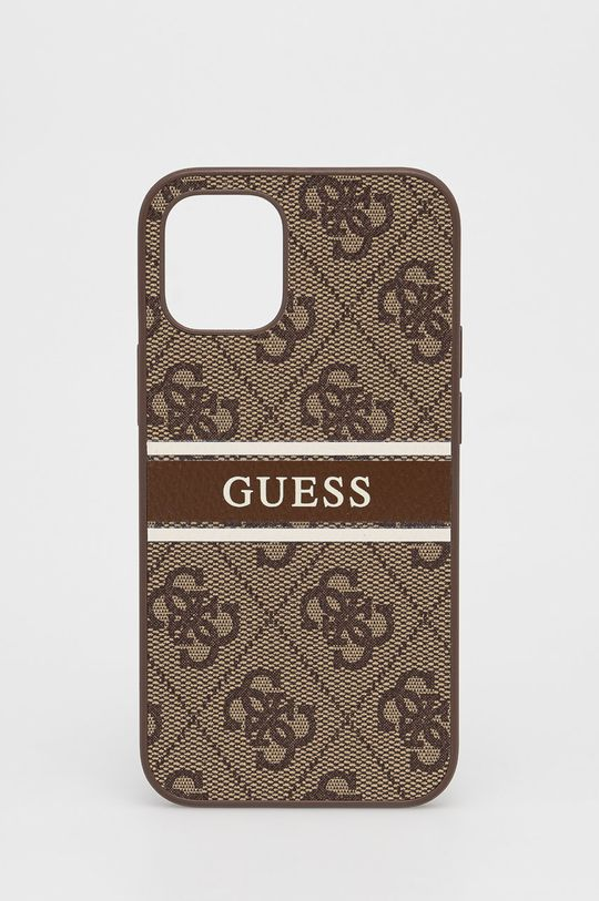 brązowy Guess - Etui na telefon iPhone 12 Mini Unisex