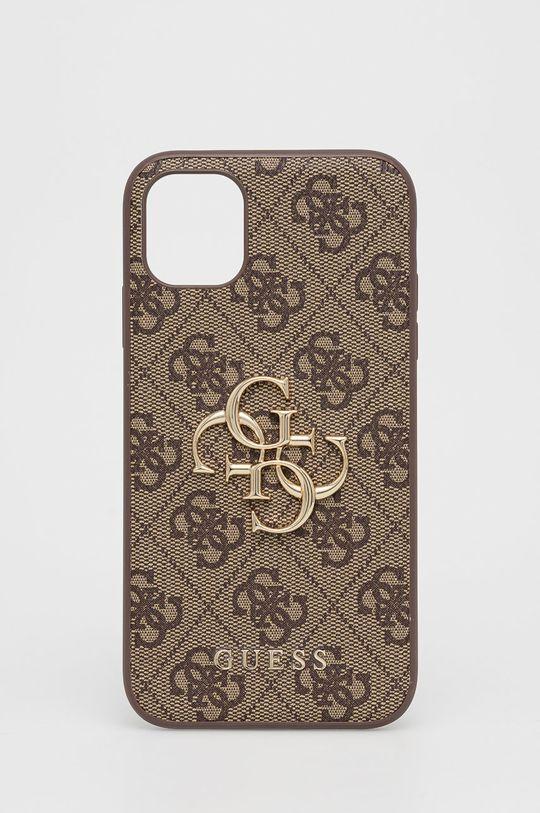 brązowy Guess - Etui na telefon iPhone 11 Unisex