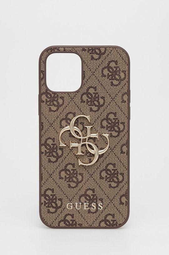 brązowy Guess - Etui na telefon iPhone 12/12 Pro Unisex