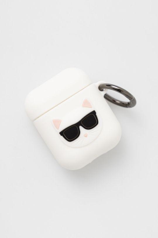 biały Karl Lagerfeld - Pokrowiec na Airpods Unisex