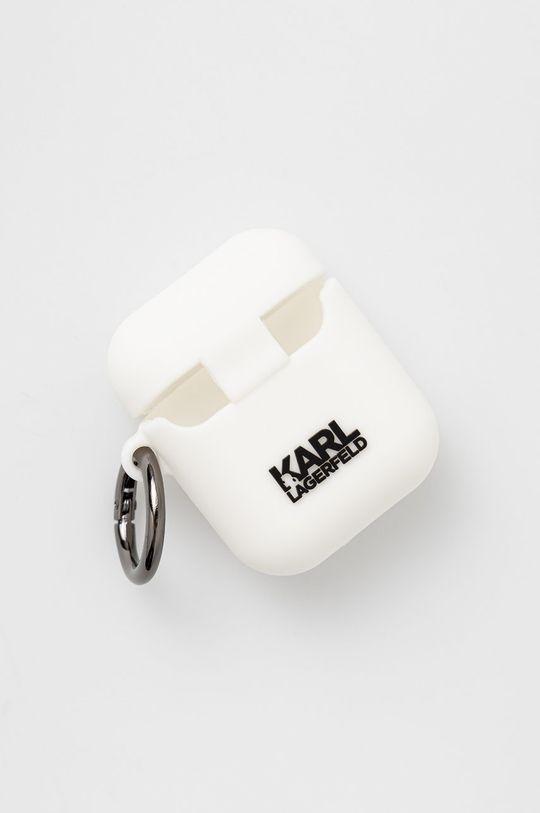 Karl Lagerfeld - Pokrowiec na Airpods biały