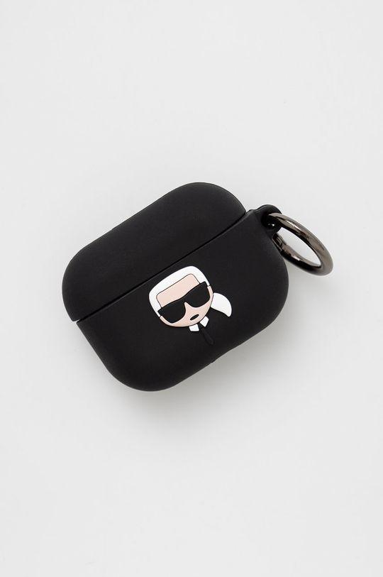 czarny Karl Lagerfeld - Pokrowiec na Airpods Pro Unisex
