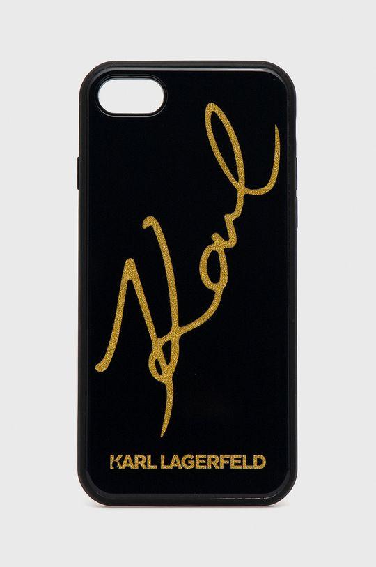czarny Karl Lagerfeld - Etui na telefon iPhone 7/8/SE Unisex