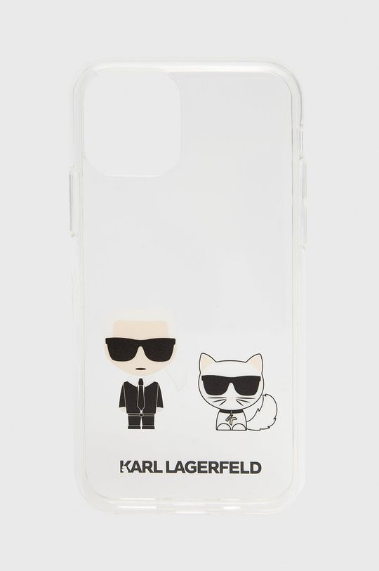 transparentny Karl Lagerfeld - Etui na telefon iPhone 11 Pro Unisex