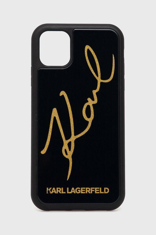 czarny Karl Lagerfeld - Etui na telefon iPhone 11 Pro Unisex