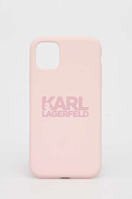 różowy Karl Lagerfeld - Etui na telefon iPhone 11 Unisex